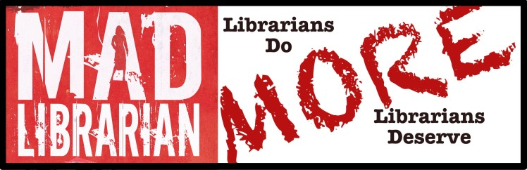 Mad Librarian Bumper Sticker