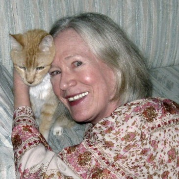Author Claire Matturro nd orange tabby Victor